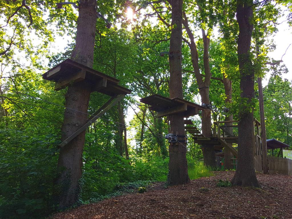 Baumseilpfad und Hochseilgarten in der Wingst