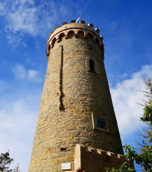 Ziel des Wernigeröder Märchenweg im Harz, der Rapunzelturm, Bismarkturm