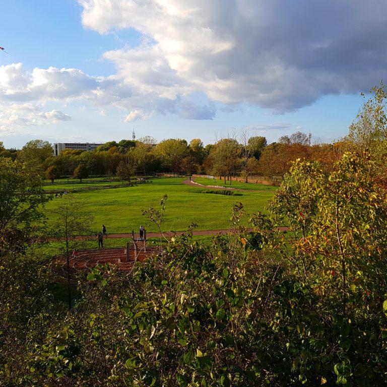 Aussicht vom Berg im Südpark in Merseburg